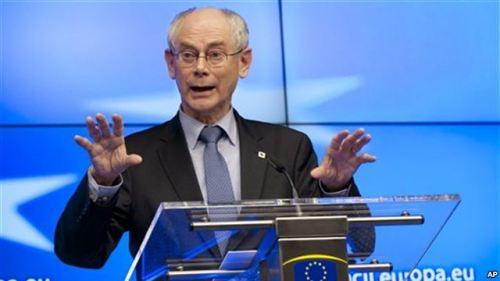 Chủ tịch Hội đồng châu Âu Herman Van Rompuy.