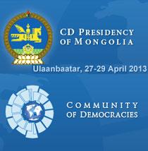 community of democracies mongolia 2013